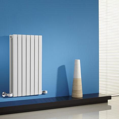 Hudson Reed Sloane – Radiateur Design Horizontal – Blanc – 63,5 x 42cm Double Rang
