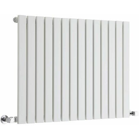 Hudson Reed Sloane – Radiateur Design Horizontal – Blanc – 63,5 x 83,4cm