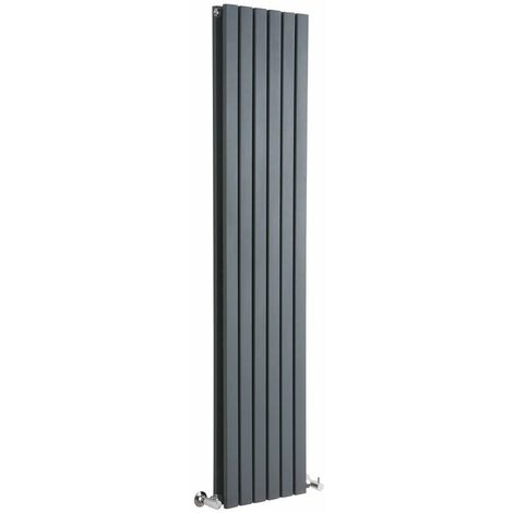 Hudson Reed Sloane – Radiateur Design Vertical – Anthracite – 160 x 35,4cm Double Rang