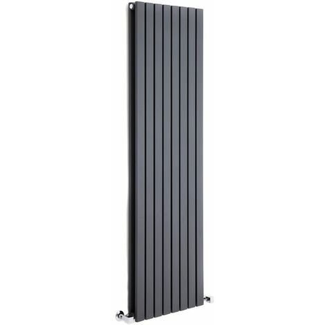 Hudson Reed Sloane – Radiateur Design Vertical – Anthracite – 160 x 47,2cm Double Rang