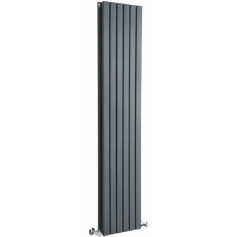 Hudson Reed Sloane – Radiateur Design Vertical – Anthracite – 178 x 35,4cm Double Rang