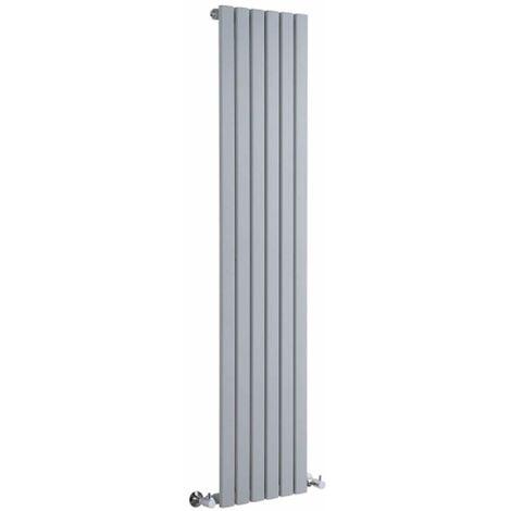 Hudson Reed Sloane – Radiateur Design Vertical – Argent - 160 x 35,4cm
