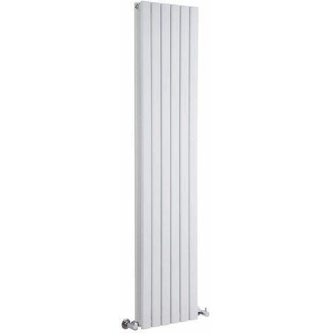 Hudson Reed Sloane – Radiateur Design Vertical – Blanc – 160 x 35,4cm Double Rang