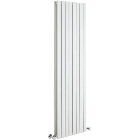 Hudson Reed Sloane – Radiateur Design Vertical – Blanc – 160 x 47,2cm Double Rang