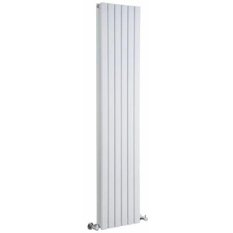 Hudson Reed Sloane – Radiateur Design Vertical – Blanc – 178 x 35,4cm Double Rang