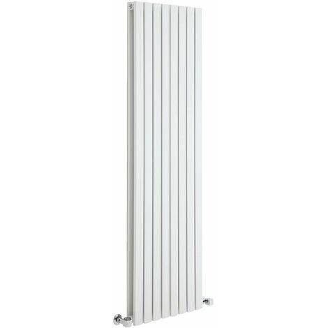 Hudson Reed Sloane – Radiateur Design Vertical – Blanc – 178 x 47,2cm Double Rang