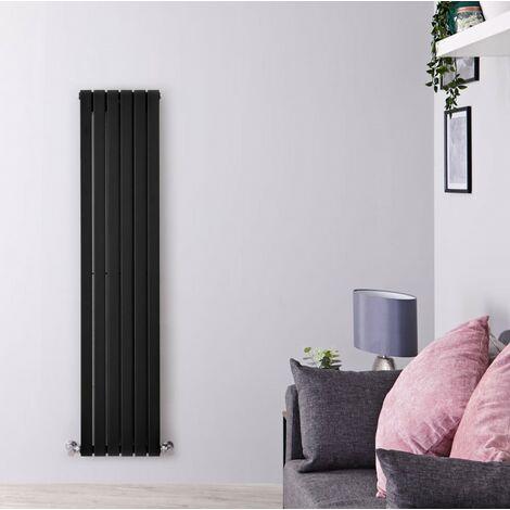 Hudson Reed Sloane – Radiateur Design Vertical – Noir – 160 x 35,4cm Double Rang