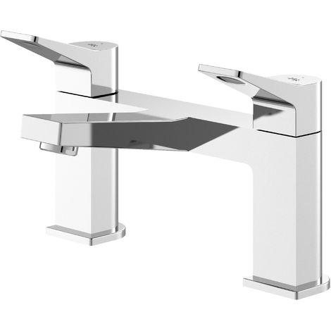 Hudson Reed SOA303 Soar | Modern Bathroom Deck Mounted Bath Filler Tap, 143mm x 231mm, Chrome