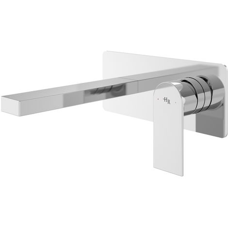 Hudson Reed SOT328 Sottile ǀ Modern Bathroom Wall Mounted Round Single Lever Basin Mixer/Bath Filler, 137mm x 220mm, Chrome