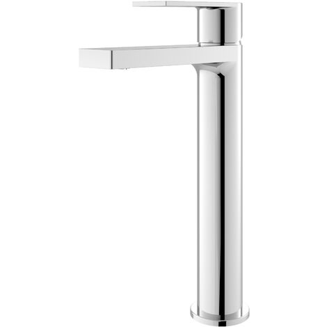Hudson Reed Sottile Tall Mono Basin Mixer Tap with Waste - Chrome