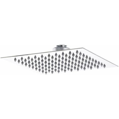 Hudson Reed Square Fixed Shower Head, 200mm x 200mm, Chrome