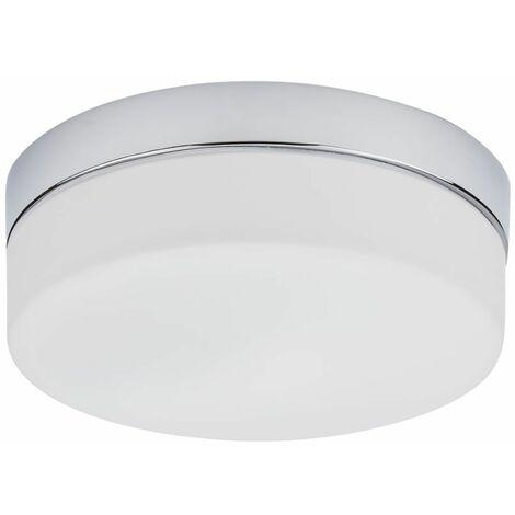 Hudson Reed Tahoe Plafoniera da Soffitto LED 12W Ø236mm Rotonda per Bagni Cromata Lampada Paratia – IP44 Impermeabile – Bianco Caldo (3000K)