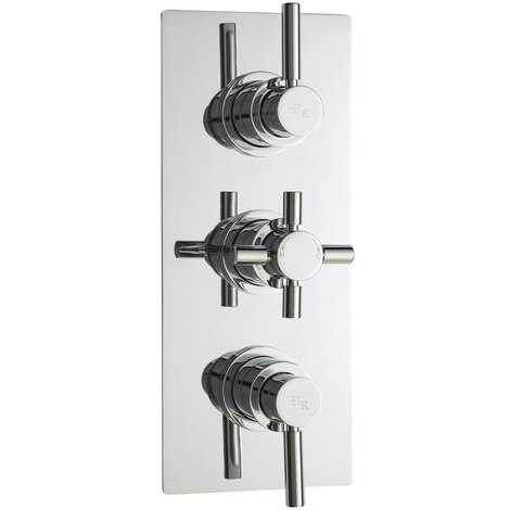 Hudson Reed Tec Pura Plus Triple Thermostatic Valve Rectangular Plate - A3003