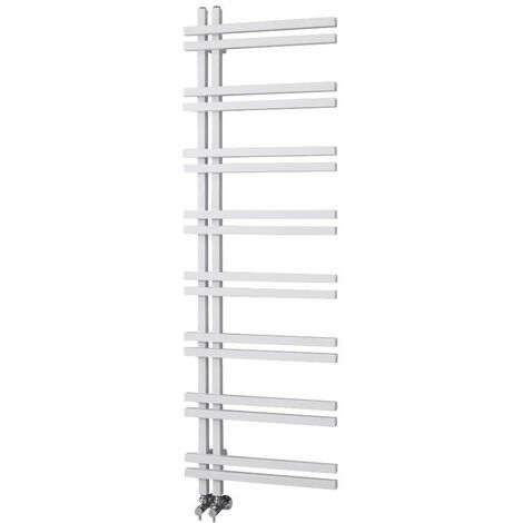 Hudson Reed Tika – Sèche-serviettes Aluminium Design – Blanc - 160 x 50 cm