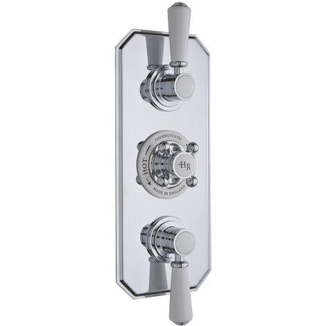 Hudson Reed Topaz Triple Concealed Shower Valve with Diverter - Chrome