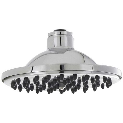 Hudson Reed Traditional Fixed Shower Head, 6 Inch Diameter, Chrome