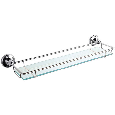 Hudson Reed Traditional Gallery Shelf, Chrome