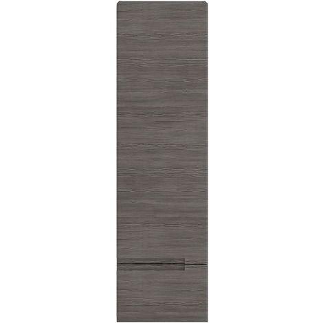 Hudson Reed Urban Tall Storage Unit, 400mm Wide, Brown Grey Avola