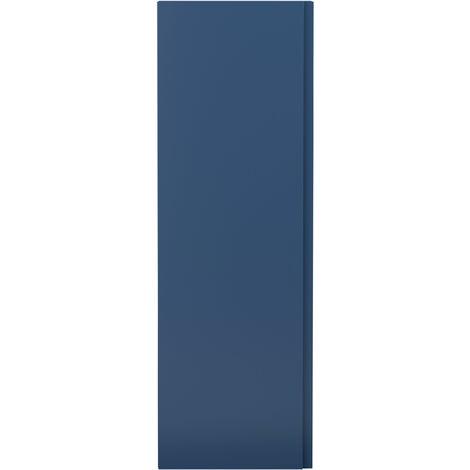 Hudson Reed Urban Wall Hung Tall Storage Unit 400mm Wide - Satin Blue