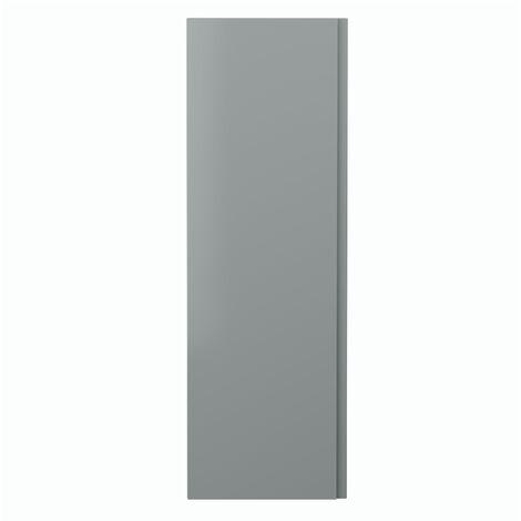 Hudson Reed Urban Wall Hung Tall Storage Unit 400mm Wide - Satin Grey