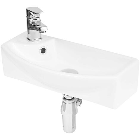 Hudson Reed Vessel Cloakroom Basin 450mm Wide 1 LH Tap Hole