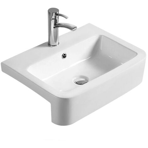 Hudson Reed Vessel Semi Recessed Basin 570mm Wide - 1 Tap Hole