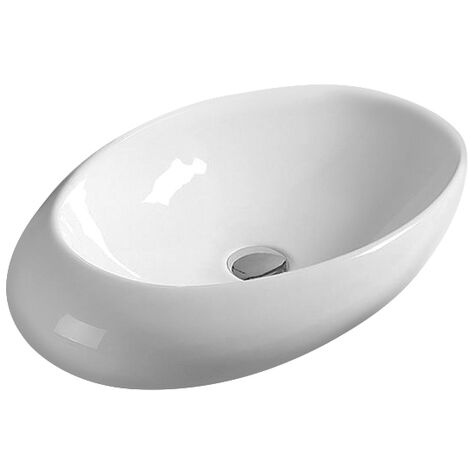 Hudson Reed Vessel Sit-On Countertop Basin 490mm Wide - 0 Tap Hole