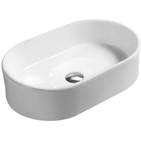 Hudson Reed Vessel Sit-On Countertop Basin 565mm Wide - 0 Tap Hole