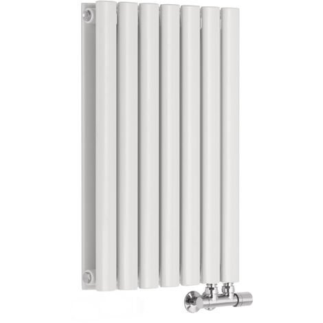 Hudson Reed Vitality Caldae – Radiateur Design Horizontal – Raccordement Central – Blanc – 63,5 x 41,5cm Double Rang