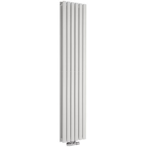 Hudson Reed Vitality Caldae – Radiateur Design Vertical – Raccordement Central – Blanc – 160 x 35,4cm Double Rang