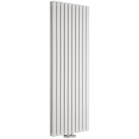 Hudson Reed Vitality Caldae – Radiateur Design Vertical – Raccordement Central – Blanc – 160 x 59cm Double Rang