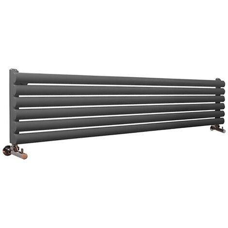 Hudson Reed Vitality – Radiateur Design Horizontal – Anthracite – 35,4 x 178cm