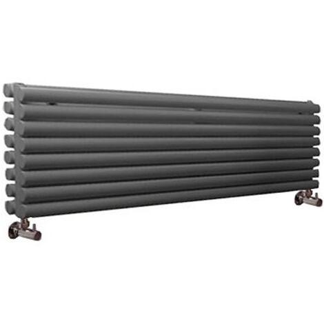 Hudson Reed Vitality – Radiateur Design Horizontal – Anthracite – 47,2 x 178cm Double Rang