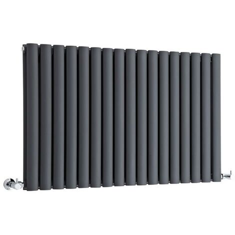 Hudson Reed Vitality – Radiateur Design Horizontal – Anthracite – 63,5 x 100cm Double Rang