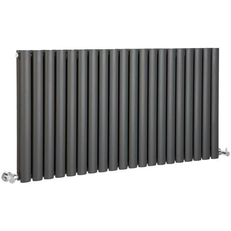 Hudson Reed Vitality – Radiateur Design Horizontal – Anthracite – 63,5 x 118cm Double Rang