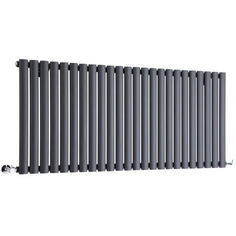 Hudson Reed Vitality – Radiateur Design Horizontal – Anthracite – 63,5 x 141,1cm