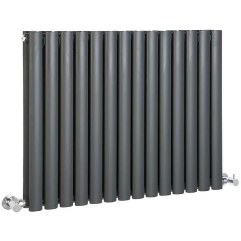 Hudson Reed Vitality – Radiateur Design Horizontal – Anthracite – 63,5 x 83,4cm Double Rang