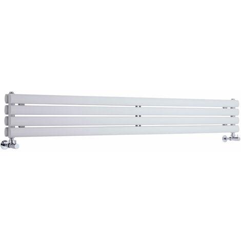 Hudson Reed Vitality – Radiateur Design Horizontal – Blanc – 23,6 x 160cm Double Rang