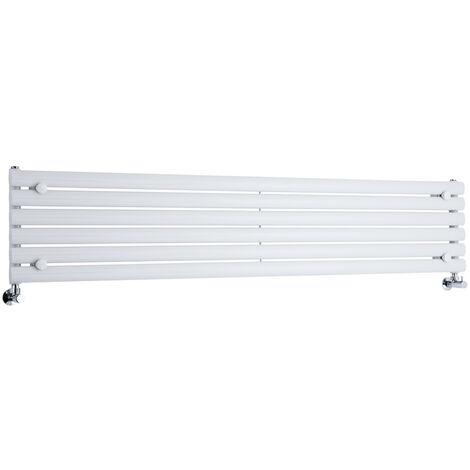 Hudson Reed Vitality – Radiateur Design Horizontal – Blanc – 35,4 x 178cm
