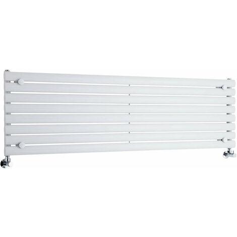 Hudson Reed Vitality – Radiateur Design Horizontal – Blanc – 47,2 x 160cm