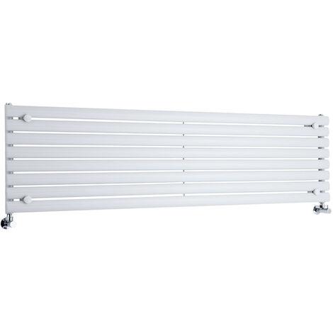 Hudson Reed Vitality – Radiateur Design Horizontal – Blanc – 47,2 x 178cm