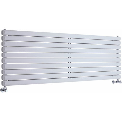 Hudson Reed Vitality – Radiateur Design Horizontal – Blanc – 59 x 178cm Double Rang