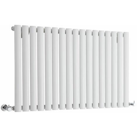 Hudson Reed Vitality – Radiateur Design Horizontal – Blanc – 63,5 x 100cm