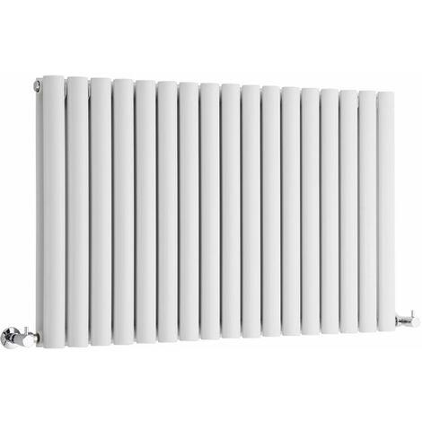 Hudson Reed Vitality – Radiateur Design Horizontal – Blanc – 63,5 x 100cm Double Rang
