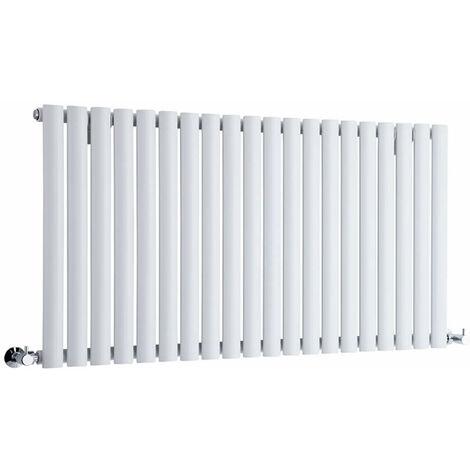 Hudson Reed Vitality – Radiateur Design Horizontal – Blanc – 63,5 x 118cm