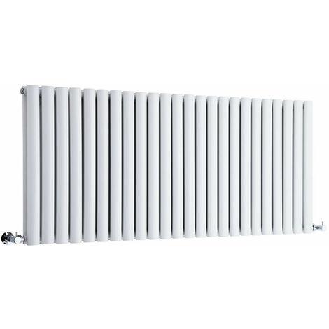 Hudson Reed Vitality – Radiateur Design Horizontal – Blanc – 63,5 x 141,1cm Double Rang