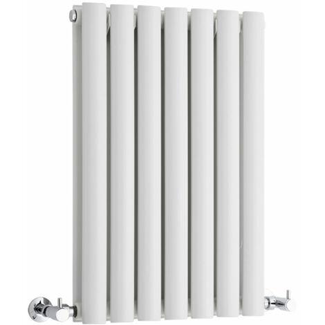 Hudson Reed Vitality – Radiateur Design Horizontal – Blanc – 63,5 x 41,5cm Double Rang