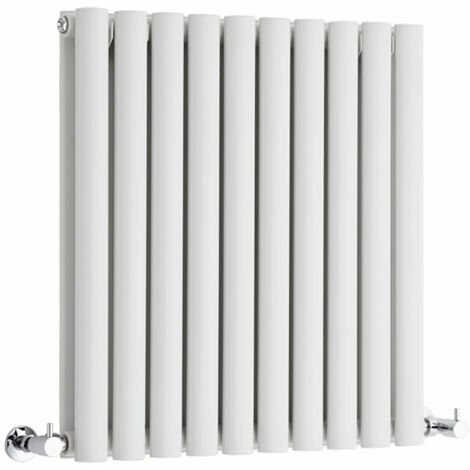 Hudson Reed Vitality – Radiateur Design Horizontal – Blanc – 63,5 x 59 cm Double Rang