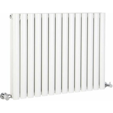Hudson Reed Vitality – Radiateur Design Horizontal – Blanc – 63,5 x 83,4cm Double Rang