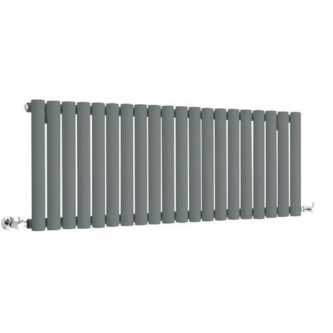 Hudson Reed Vitality – Radiateur Design Horizontal Compact – Anthracite – 40 x 118cm